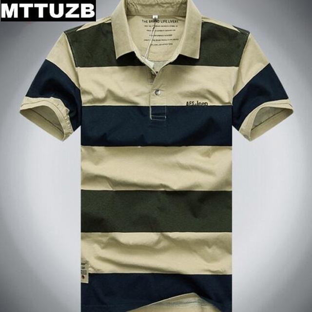 Mttuzb hombres clásica tira de polo camisas de los hombres del verano camisetas de manga corta hombre de deporte hombre ocasionales adelgazan camisetas Ml XL XXL XXXL