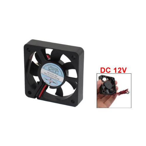 CAA-New Plastic DC 12V 2 Pins Connector Brushless Cooling Fan 50mm x 50mm x 10mm 1