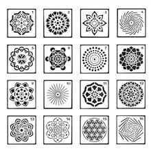 16 шт. мандалы расставные инструменты шаблоны трафарет набор для DIY Рисования черчения художественных ремесленных проектов
