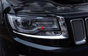 2 sztuk Chrome reflektor lampa oko pokrywa tapicerka dla Grand Cherokee (Wk2) 2014 2015