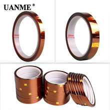 Tawny Heat Resistant Polyimide Tape High Temperature Adhesive Insulation Tape for BGA PCB SMT Repair Tool 0 06mm thick 110mm 20m high temperature resist esd one side adhension tape polyimide film for motor insulation