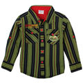 NOVA brand new  children strip t shirt boy clothing with long sleeve kids cotton fashion spring shirt with pockets