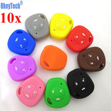 OkeyTech 10PCS/LOT Silicone Car Remote Key Fob Cover Case Set Protector For LADA Priora Sedan Sport Kalina Granta Vesta X-Ray(China)
