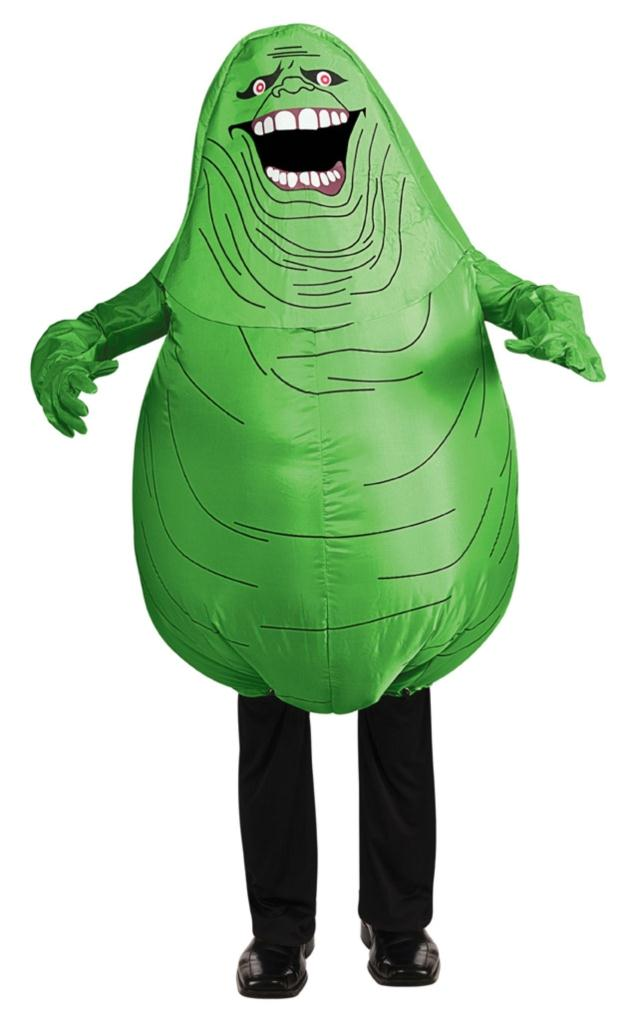 Movie Ghostbusters Halloween Party Cosplay Inflatable Green Slimer Ghost Costume for Children and Adults