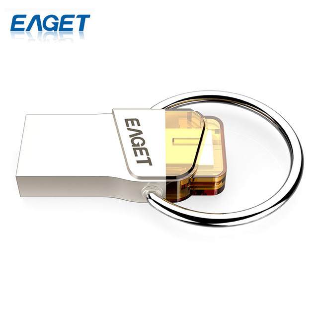 EAGET Original CU66 Type-C USB Flash Drive 32GB Pendrive Mini Portable Storage For Smart Phone For Computer For Macbook