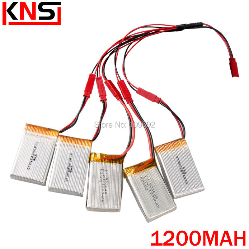 free shipping HUANQI RC quadcopter HQ898B spare parts 5PCS Li-po lithium battery 3.7V 1200mah and charger 5-in-1 charging cable 2 pack 7 4v 500mah lithium battery for jjrc h8c h8d rc quadcopter spare free shipping