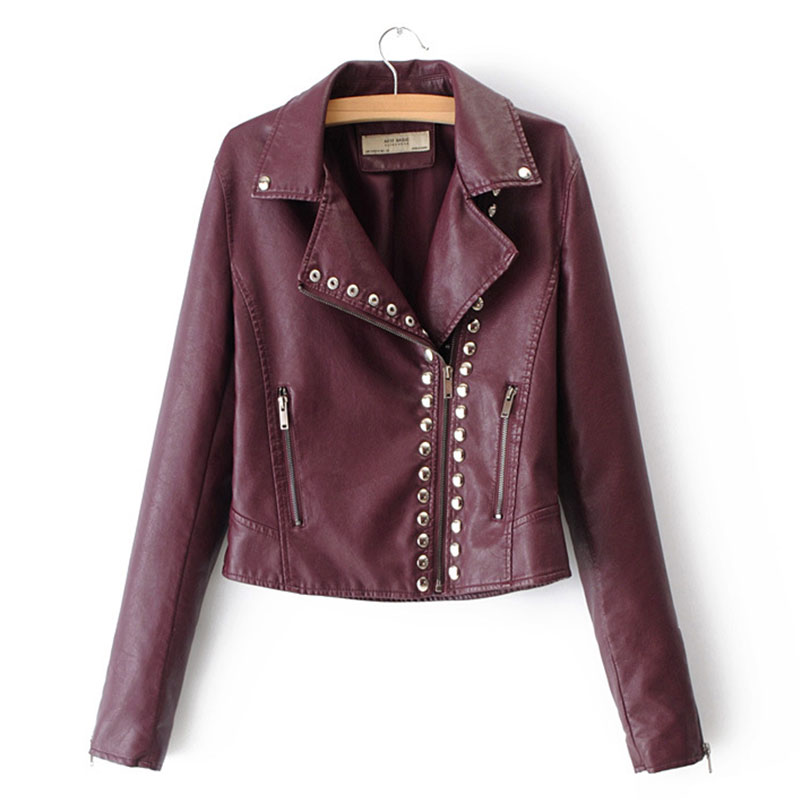 Lusumily Motorcycle Soft Pu   Leather   Jacket Women Spring Autumn New Fashion Short Coat Zipper Outerwear Ladies   Leather   Jackets