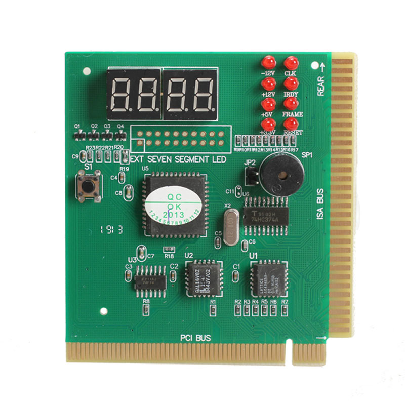 4 Digit PCI Post Card LCD Display PC Analyzer Diagnostic Card Motherboard Tester Computer Analysis Networking Tools