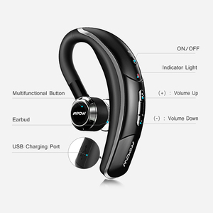Image 5 - Mpow BH028 Bluetooth Earphone Single Wireless Headphone With 6 Hour Playing Time Handsfree Calling For Car Driver Business Style