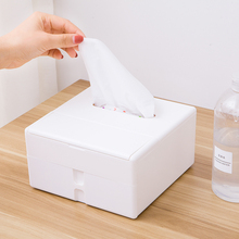 Multifunctional large capacity paper box with mirror storage tissue  17.8*17.8*9.5cm