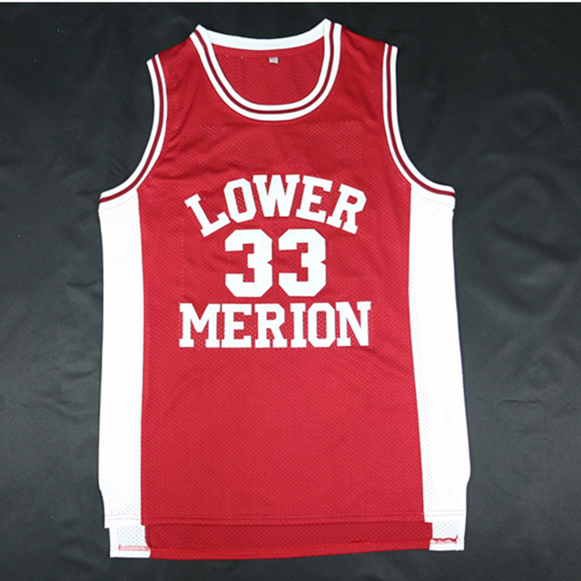 Kobe Bryant  33 Lower Merion High School Basketball Jersey Red White Black  Double Stiched Letther   Number   Logo 3e540f9f4