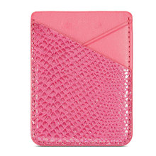 цена на Universal Pouch Cell Phone Stick-on Card Holder Sticker Portable Storage Back Pocket PU Leather Fashion Credit Card Adhesive