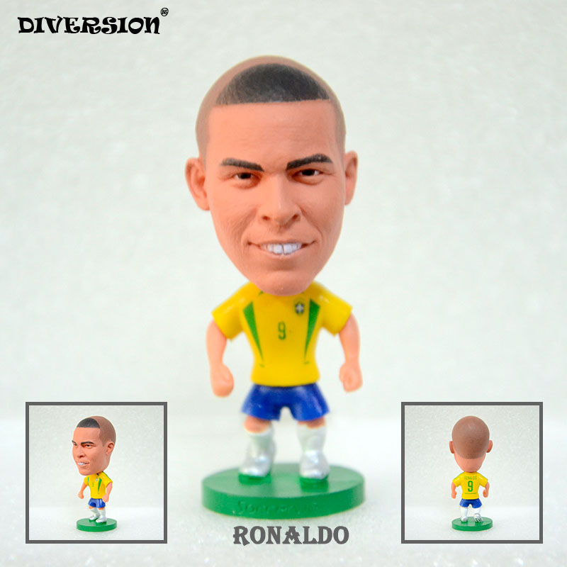 Soccer Player Star 9# RONALDO (BRA-2002) 2.5″ Toy Doll Figure soccerwe