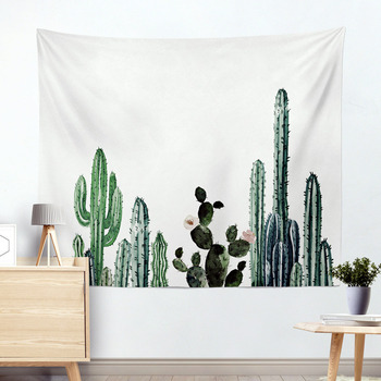 Wall Hanging Cactus Tapestry Cotton Bohemian 200*150cm Cover Beach Towel Throw Blanket Picnic Yoga Mat Home Decoration Textiles 3