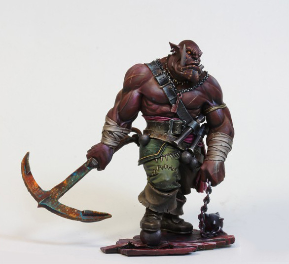 1/24 75mm BLACK ORC Warrior Soldier With Base 75mm   Toy Resin Model Miniature Resin Figure Unassembly Unpainted