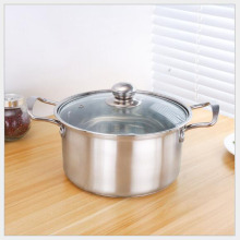 Diameter 16cm Thickened stainless steel Korean soup pot single-handle milk pan household double bottom non-stick cooker(China)