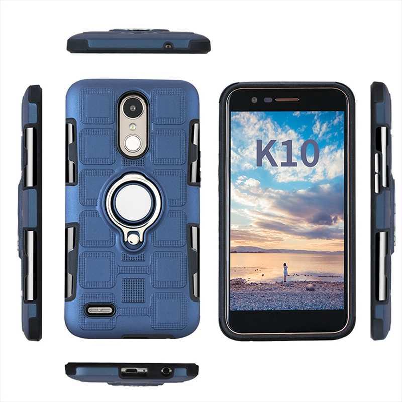 Двойной Слои броня для LG K4 K8 K10 2017 LV3 LV5 чехол для пальца кольцо с магнитной присоской автомобильный держатель чехол для LG K8 K10 2018 K9 K11 чехол