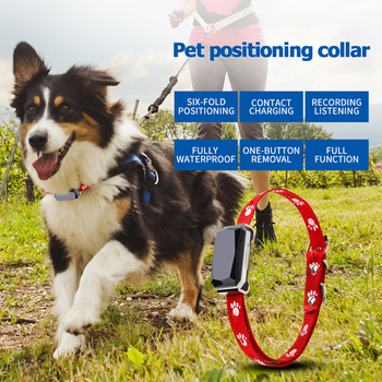 Pets Collar GPS Tracker Global Locator Real Time Dog Cat GPS Collar Tracking GPS+LBS+WIFI Geofence Free APP
