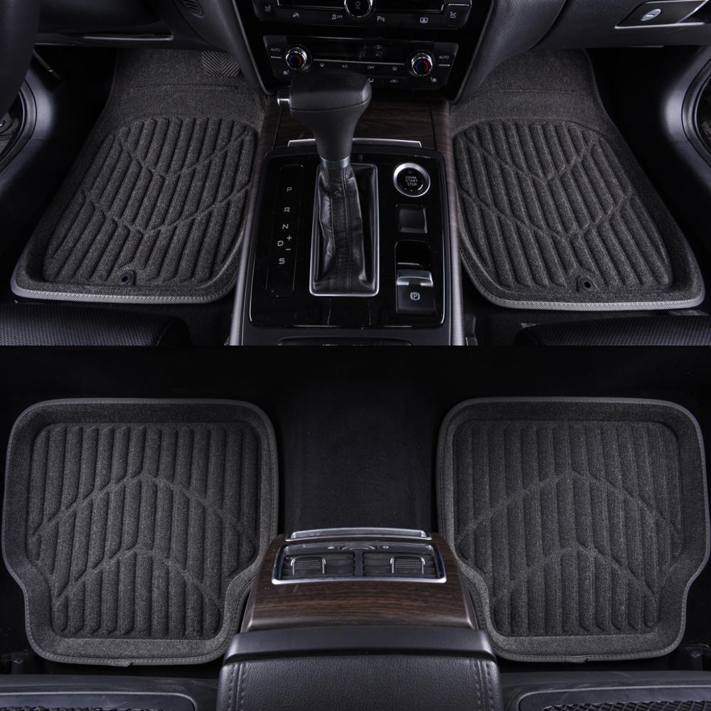 Universal Car Floor Mats Gray Auto Classic Design Car