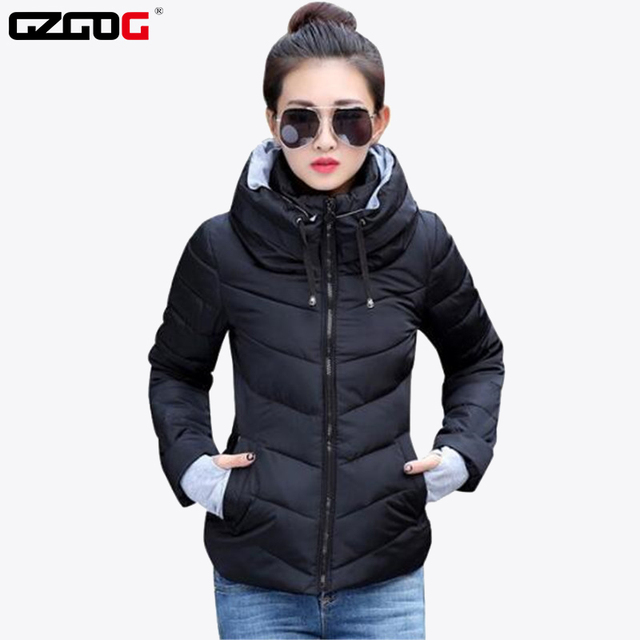 שלג ללבוש צמר גפן מעיל נשי 2019 סתיו וחורף מעיל נשים slim קצר כותנה מרופדת הלבשה עליונה חורף מעיל נשים