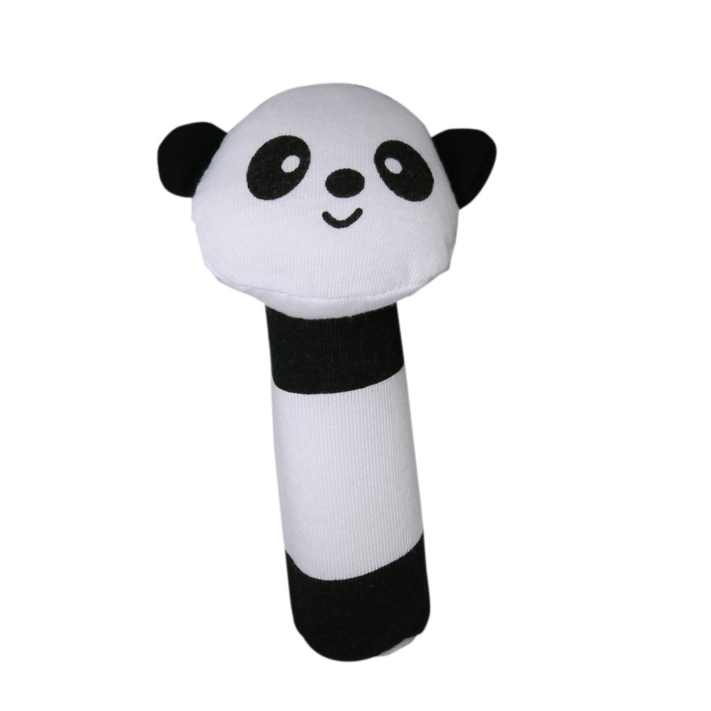 shape Panda Fabric squealing sound bar Baby play toys