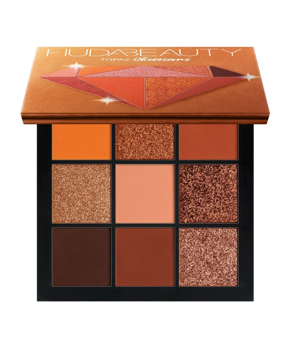 2018 NEW Huda Beauty Topaz Obsessions Palette Eyeshadow Pallete Matte Shimmer Nude Makeup Glitter Smoky Eye Shadow Powder
