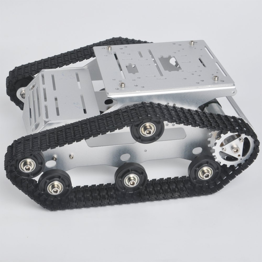 KOOKYE Robot Car Chassis Smart Tank Platform Metal Stainless Steel 2DW Motor 9V for Arduino / Raspberry Pi DIY(TR300) цена
