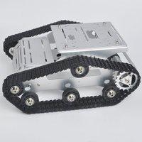 Kookye робот шасси автомобиля умный Танк платформы металл Нержавеющаясталь 2DW мотор 9 В для Arduino/Raspberry Pi DIY (TR300)