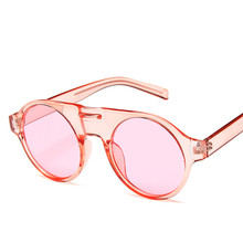 Round Goggle Sunglasses Women Punk Vintage Fashion Mens Popular Trend Loves Light UV400