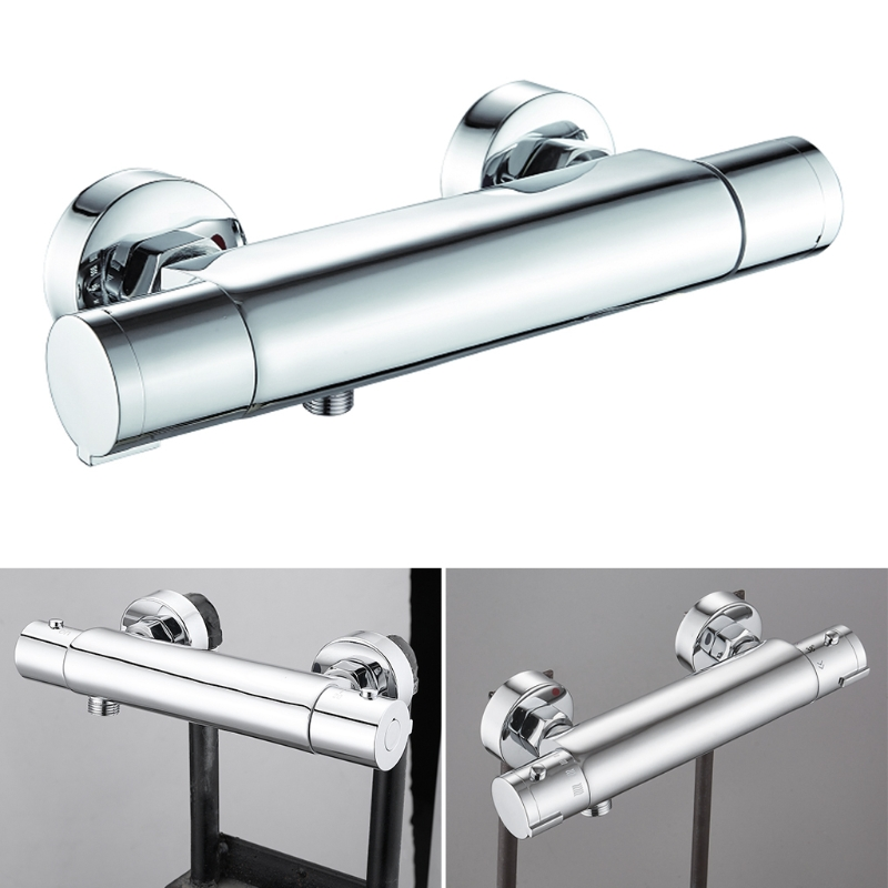 Thermostatic Control Mixing Valve Wall Bathroom Smart Shower Faucet Taps Mixer Chrome finished Bathroom Shower Set chrome finished wall mounted thermostatic shower faucet mixer valve