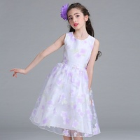 Retail New Style Summer Baby Girl Print Flower Girl Dress For Wedding Girls Party Dress For