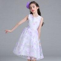 Retail New Style Summer Baby Girl Print Flower Girl Dress For Wedding Girls Party Dress For