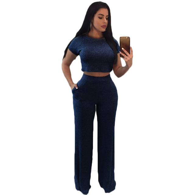 592c8852ac37 YJSFG HOUSE Sexy Women Short Sleeve Bodycon Knitted Cotton Club Party  Casual Jumpsuit Rompers 2pcs Outfit Sportswear