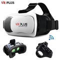 CAIXA 3.0 Smartphone da Realidade Virtual VR VR Além de Óculos 3D revestimento de vidro real vrbox google papelão para 4-6 'telefone + anel remoto