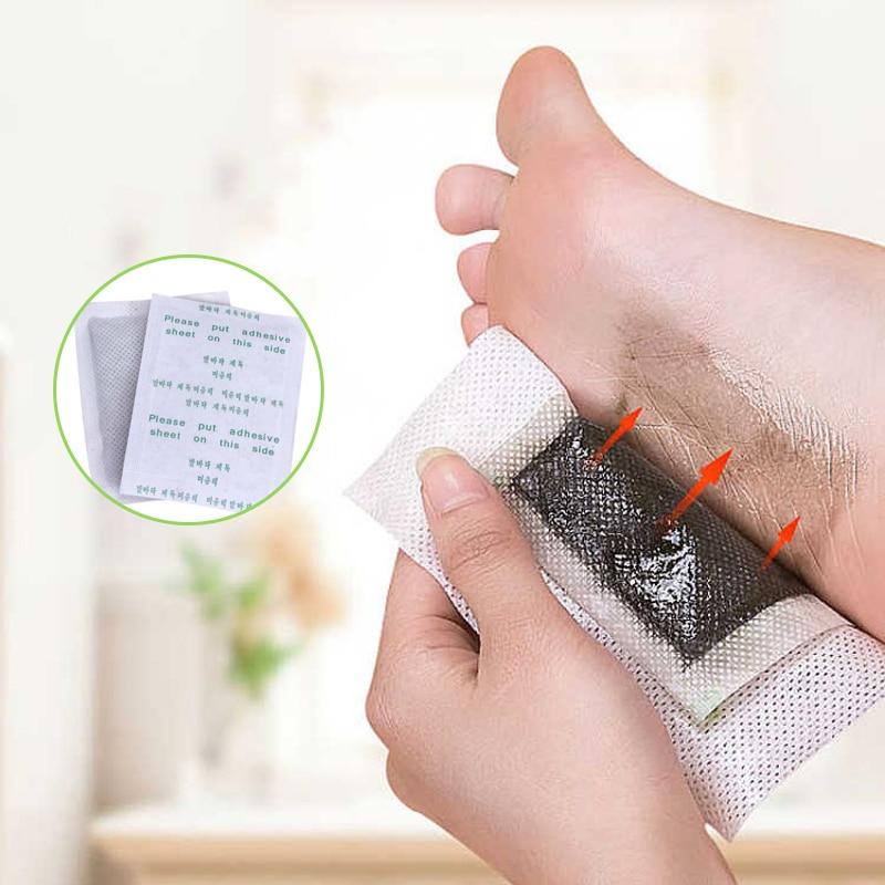 efero 100pcs=50packs Detox Foot Patches Pads Body Toxins Feet Slimming Cleansing Bamboo Vinegar Herbal Adhesive Improve Sleeping