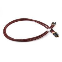 Free shipping SQ 88B 5N pure copper silver plated audio interconnect cable with WBT 0150 RCA jack
