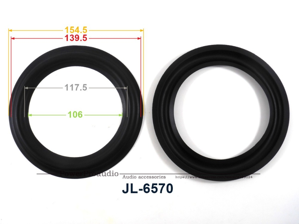 Speaker Rubber Surround 154.5mm / 139.5mm / 117.5mm / 106mm New 10 Pcs /lot = 5 Pair 6 Inch Woofer Repairable Parts