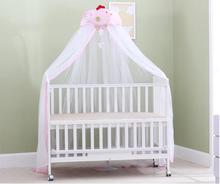 Cute Baby Crib Mosquito Net Infants Height Adjustable Canopy Boy Girl Summer Round Netting Portector Pink Children Bed Valance