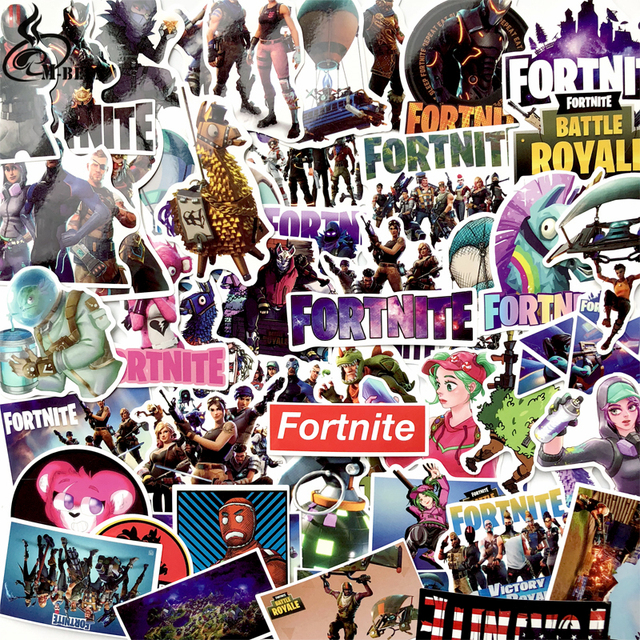 50Pcs/lot cool games Stickers For Computer PS4 Pad Phone Laptop TV Fridge Bicycle Pvc Waterproof Decal Sticker 1