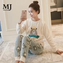 MJ038A  Flannel Kigurumi Winter kawaii Pizama Damska Pijama Feminino De Animal Thick Pyjama Pijamas Mujer Pigiama Donna