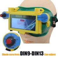 Solar Auto Darke Shading DIN9 DIN13 Welder Eyes Mask Helmet Eyes Goggle Welder Glasses For ARC