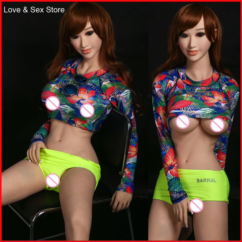 2017 Sex Product 158cm Full Real Silicone Sex Doll For Men Lifelike Adult Toy Silicone Love Product Sexual Dolls Vagina Breast newest 165cm real feeling sex doll with skeleton adult real love doll for man full silicone love doll for man sex product