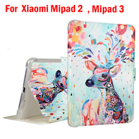 High Quality PU TPU Soft Case Cover For Xiaomi Pad 2 Cartoon Pictures Case For Xiaomi