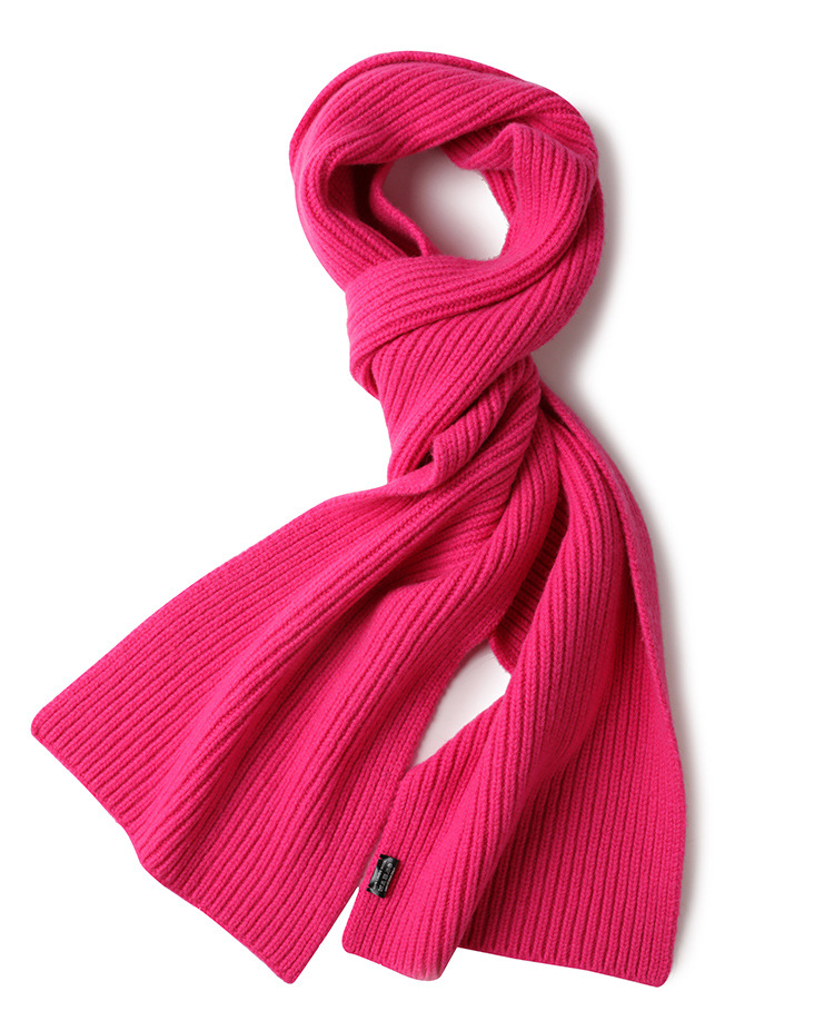 100%wool knit women boutique ring scarfs rose red 7color retail wholesale