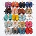 Розничная 2016 из натуральной кожи moccs младенческой девочка мальчик 20 цвета с кружевом обувь для детей девочка prewalker пинетки малышей обувь