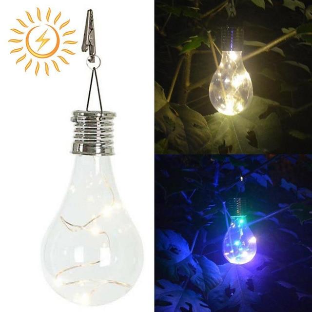 Jiaderui Led Outdoor Waterproof Solar Rotatable Garden Camping Hanging Lights Lamp Bulb Decorate Xmas