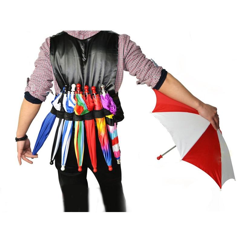 Elastic Umbrella Girdle Magic Tricks Magician Parasol Production Accessory Stage Illusion Mentalism Gimmick Props Classic Toys