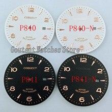 35.6mm Corgeut zegarek wybierania pasuje ETA 2836 Miyota 8215 8205 821A ruch