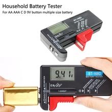 Drop Shipping Battery Tester Digital Battery Capacity Tester Check Power Level for 1.5V and 9V Batteries BT-168D все цены