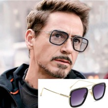Avengers 4 Mens Tony Stark Style Luxury Flight Sunglasses With Square Design And For Men Action Figure B552